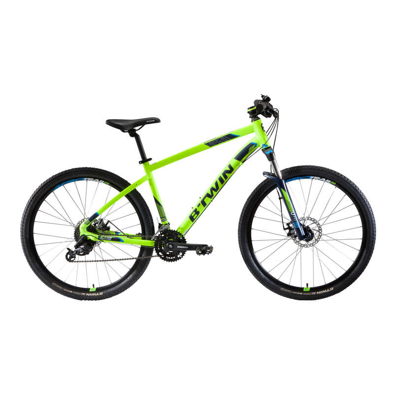 MEN SPORT TRAIL MTB BIKE Cycling - ST 520 Mountain Bike - Yellow ROCKRIDER - Bikes