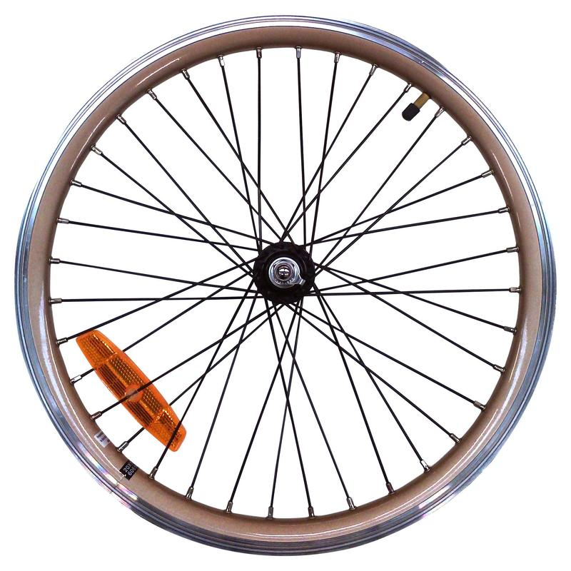 Roue vélo pliant 20 pouces avant double paroi or hoptown 500E