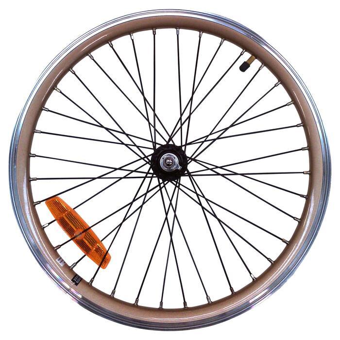 Vorderrad für Klapprad-E-Bike 20 Zoll Doppelwandfelge Hoptown 500E gold