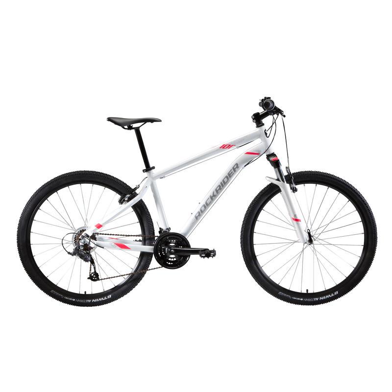 "Women's 27.5"" Mountain Bike ST 100 - White/Pink"