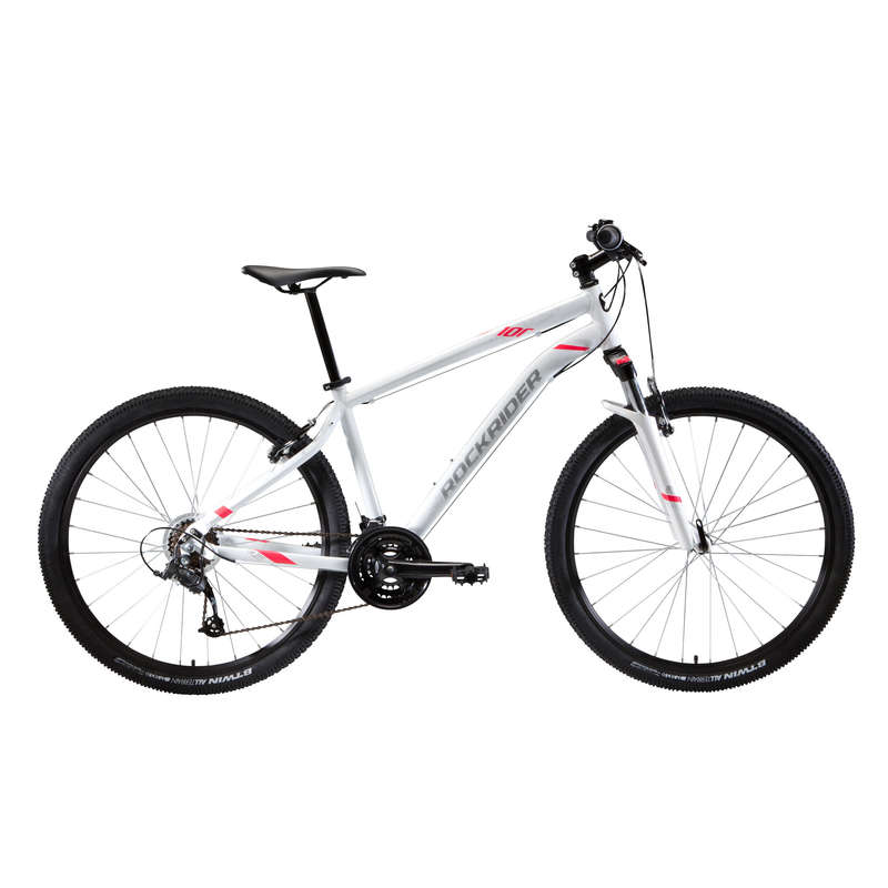 W MTB BIKE Cycling - ST 100 Women's Mountain Bike, White - 27.5