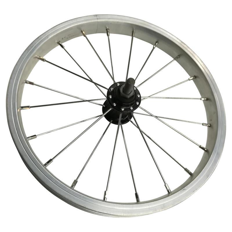 Roue vélo pliant avant 14 pouces simple paroi argent tilt 500 XS