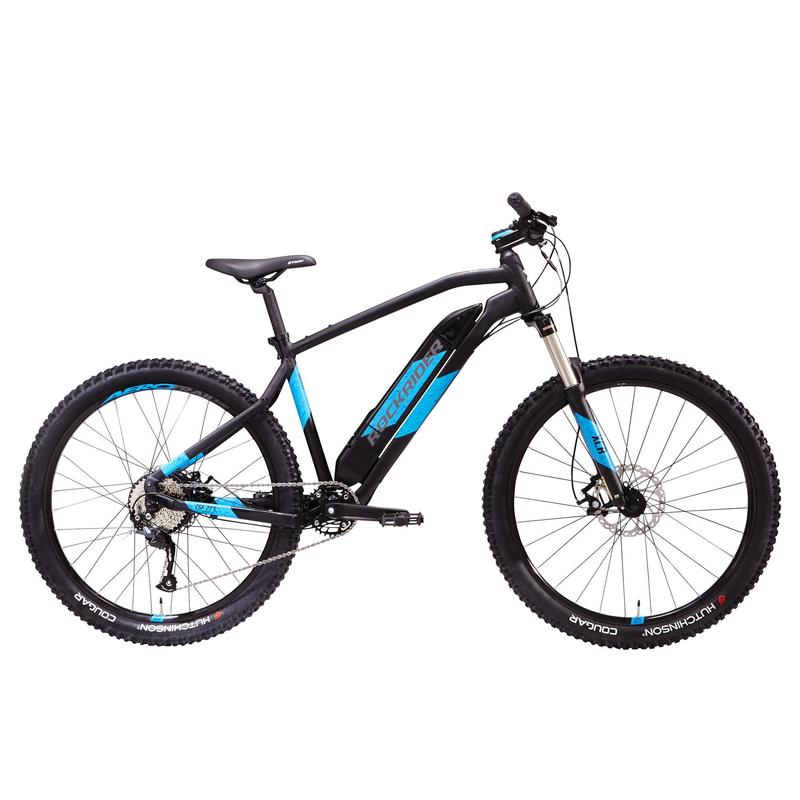 "Mtb elettrica a pedalata assistita E-ST 500 V2 nero-azzurro 27,5"""