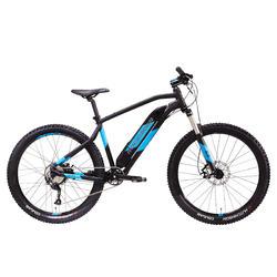 VTT électrique E-ST500 noir et bleu
