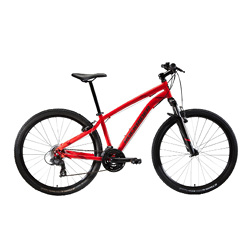 "MTB Rockrider ST100 27.5"" B'TWIN 3x7-speed mountainbike Rood"