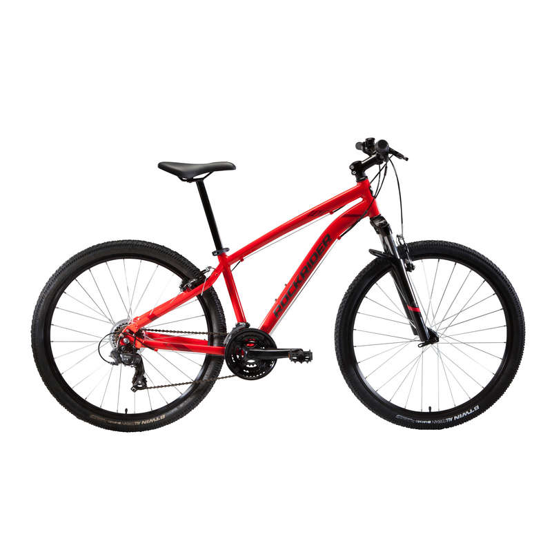 Mountainbike St 100 U Fit 27 5 Zoll Rot Rockrider Decathlon
