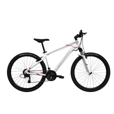"""Жіночий гірський велосипед Rockrider ST 100, 27,5"""" - Білий"""