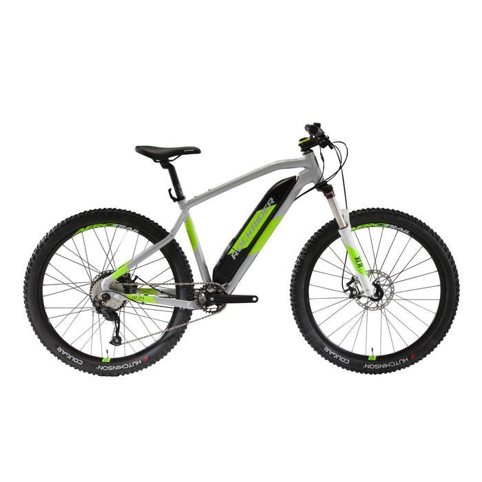 Bicicleta de Montaña eléctrica E-ST500 gris y amarillo