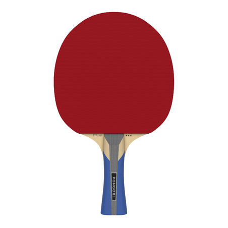 Bat Tenis Meja Sekolah Serbaguna TTR 100 3*