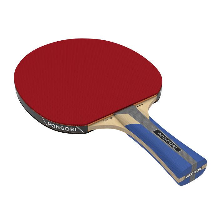 Bộ 2 vợt bóng bàn chơi công-thủ TTR 100 3* và 3 quả bóng bàn TTB 100* 40+ - Cam