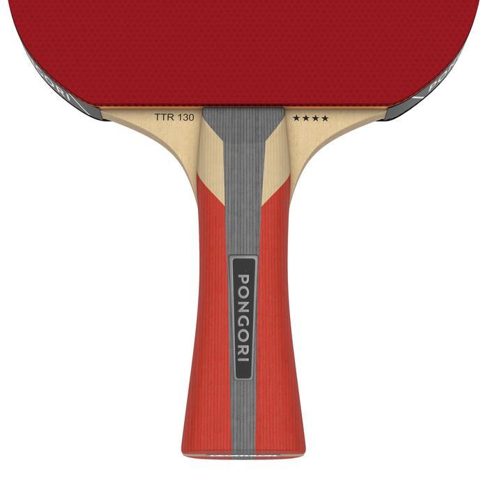 學校及俱樂部用乒乓球拍+球拍套TTR 130 4*