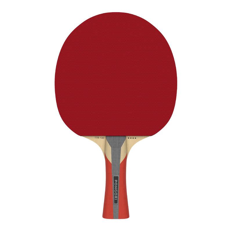 MASA TENİSİ RAKETLERİ -  ORTA SEVİYE Tenis - TTR 130 4* SPIN RAKET  PONGORI - Masa Tenisi