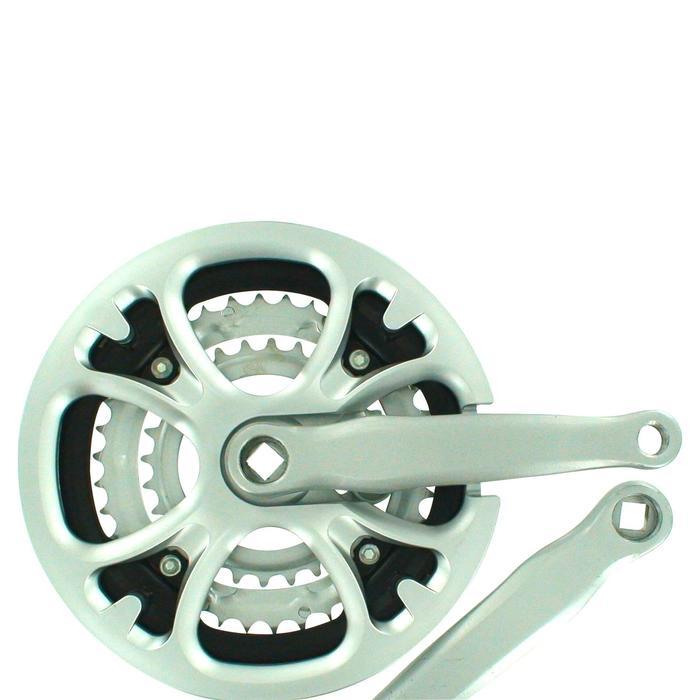 Driebladig crankstel 8 versnellingen 48/38/28 170mm vierkante as grijs