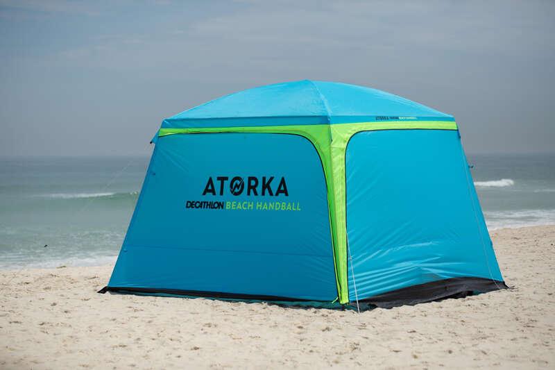 HANDBOLLSREDSKAP Vattensport och Strandsport - HGA500 blå/gul ATORKA - Strandspel