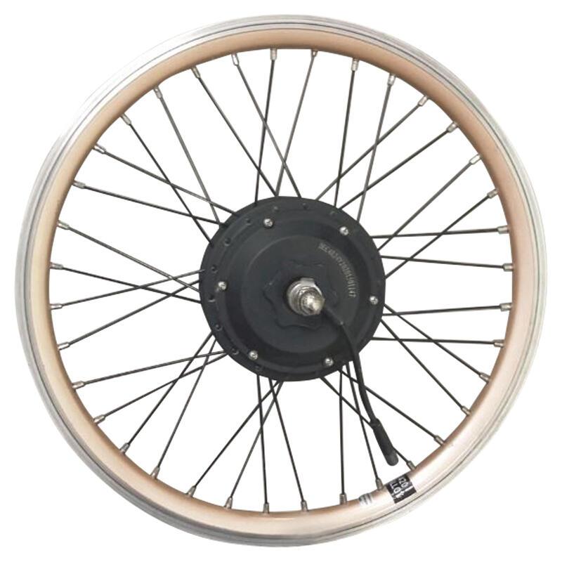 Roue vélo pliant arrière 20 pouces double parois motorisé 24V or Hoptown 500E