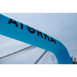 Opblaasbaar doel voor beachhandbal HIG500 blauw geel