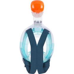 Máscara Snorkel Superficie Easybreath Niños (6-10 años/talla XS) Azul