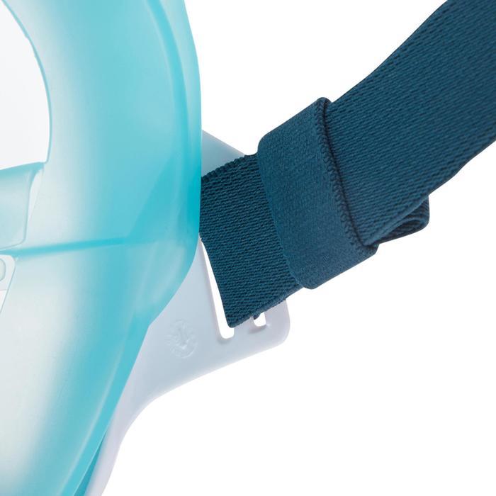 Schnorchelmaske Easybreath Kinder 6–10Jahre hellblau