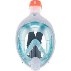 Duikbril voor kinderen (6-10 jaar / maat XS) Easybreath blauw