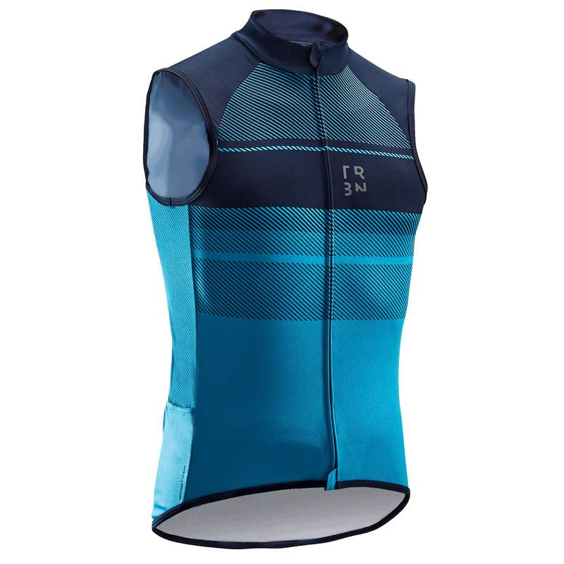 MEN WARM WEATHER ROAD CYCLING APPAREL Cycling - RC500 Sleeveless Jersey - Blue TRIBAN - Cycling