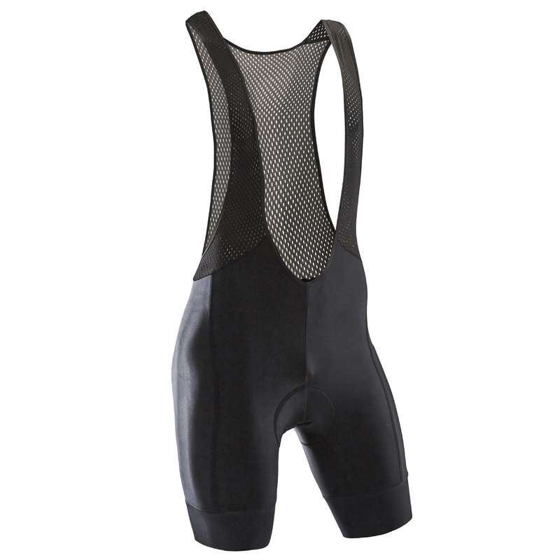 MEN WARM WEATHER ROAD CYCLING APPAREL Cycling - RC500 Bib Shorts - Black TRIBAN - Cycling