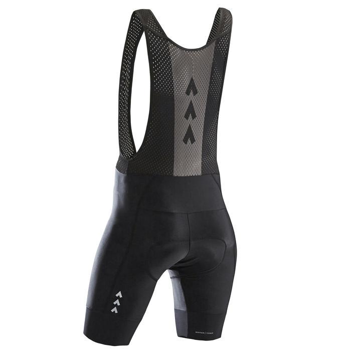 Fietsbroek met bretels voor wielertoerisme RC500 heren zwart