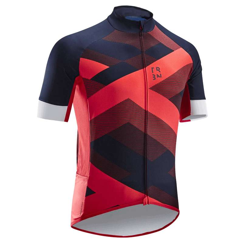 MEN WARM WEATHER ROAD CYCLING APPAREL - RC500 X Jersey - Red TRIBAN