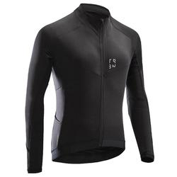 RC500 Long-Sleeved Road Cycling Bike Touring Jersey - Black