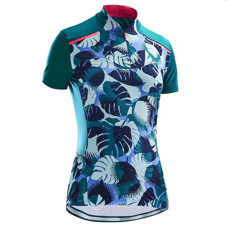 bielizna letnia damska Odzież rowerowa - Koszulka krótki rękaw 500 TRIBAN - Odzież rowerowa