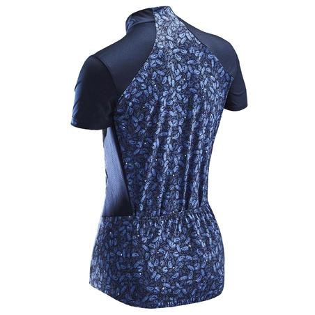 500 Jersey Bersepeda Lengan Pendek Wanita - Biru Liberti