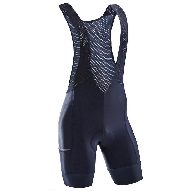 RC 500 Padded Cycling Bib Shorts - Navy Blue