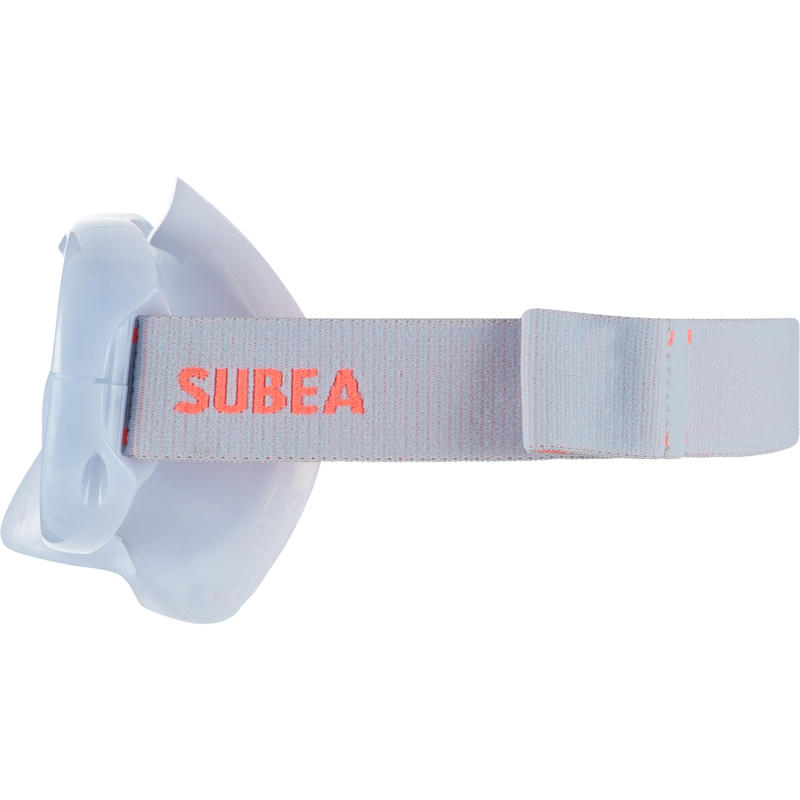 FRD120 freediving mask hazy grey