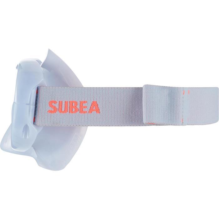 Máscara Snorkel Buceo Apnea Subea FRD120 Adulto Gris Niebla