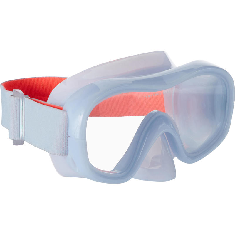 Adult Tempered Glass Snorkelling Mask SNK 520 hazy grey