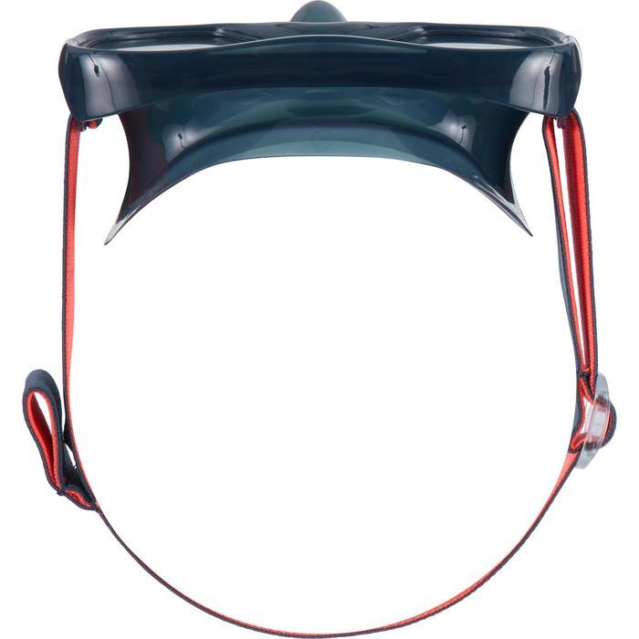 Duikbril voor volwassenen SNK 520 stormgrijs, gehard glas.