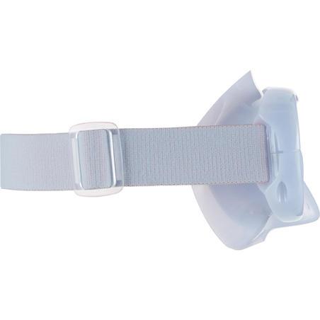 """Pieaugušo snorkelēšanas maska ar rūdītā stikla lēcu """"SNK 520"""", dūmakaini pelēka"""