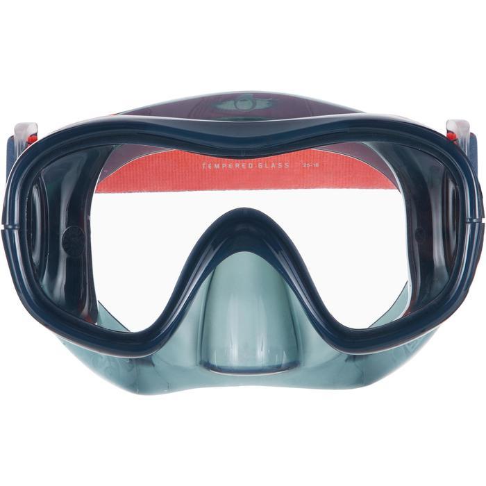 成人款強化玻璃浮潛面鏡SNK 520-暴風灰