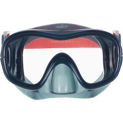 Tauchmaske Freediving FRD120 sturmgrau