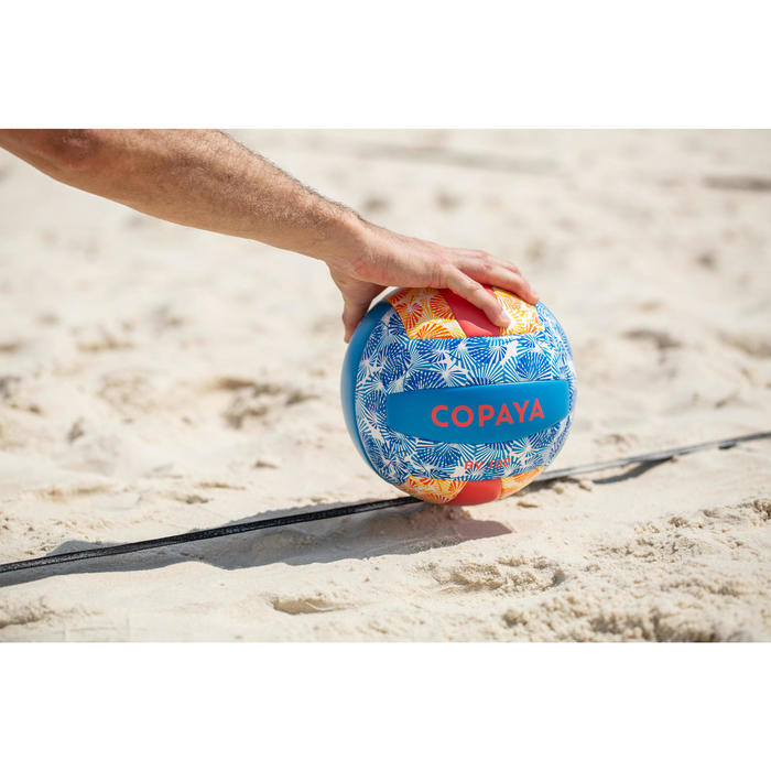 Ballon de beach-volley BVBS100 bleu et rose