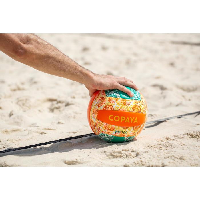 Bal voor beachvolley BVBS 100 groen/oranje