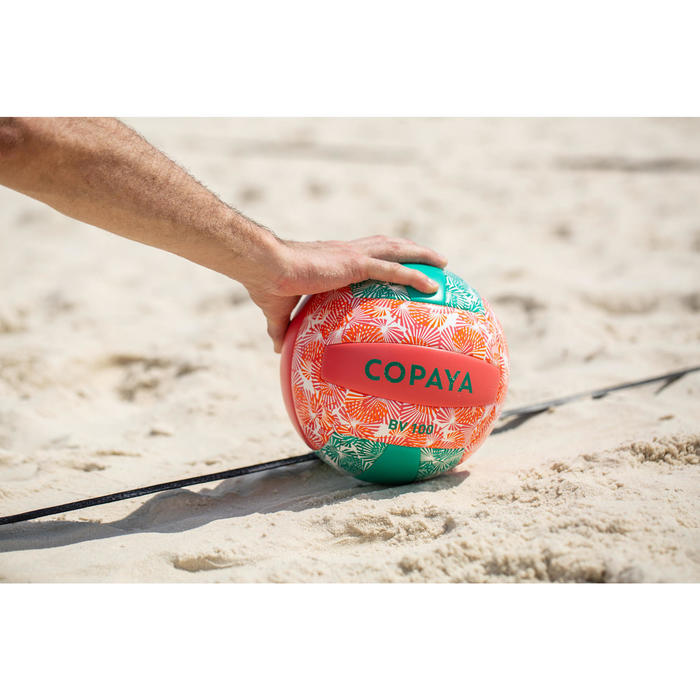 Ballon de beach-volley BVBS100 vert et rose