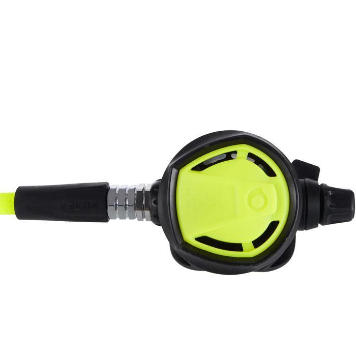 Duikoctopus SCD 900 dive/predive-instelling en wieltje om het debiet te regelen