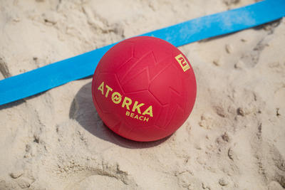 Ballon de beach handball HB500B taille 2 rouge