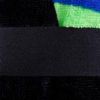 Graphic logo cotton towel size 90 x 160 cm - Black