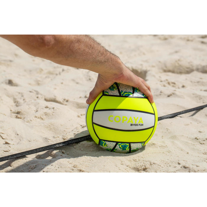 Ballon de beach-volley BV100 blanc et jaune