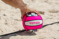 Ballon de volleyball de plage VP 100 blanc et rose
