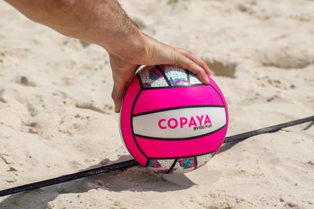 BV100 Beach Volleyball - White/Pink