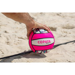 Bal beachvolley BV100 wit en roze