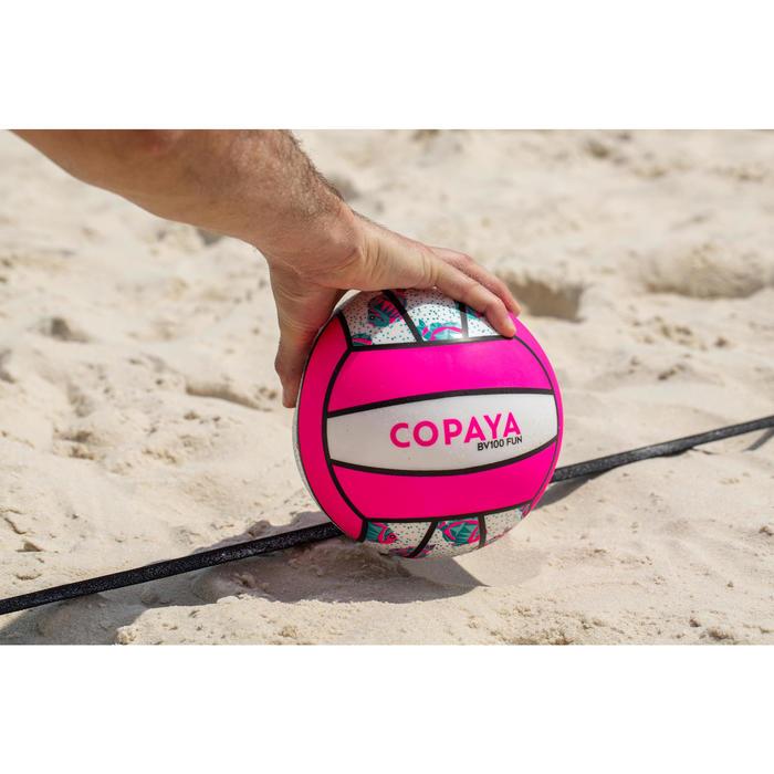 Balón de voley playa BV100 blanco y rosa