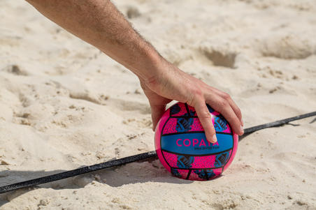 Mini ballon de volleyball de plage BV100 rose et bleu
